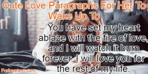 Cute Love Paragraphs For Her