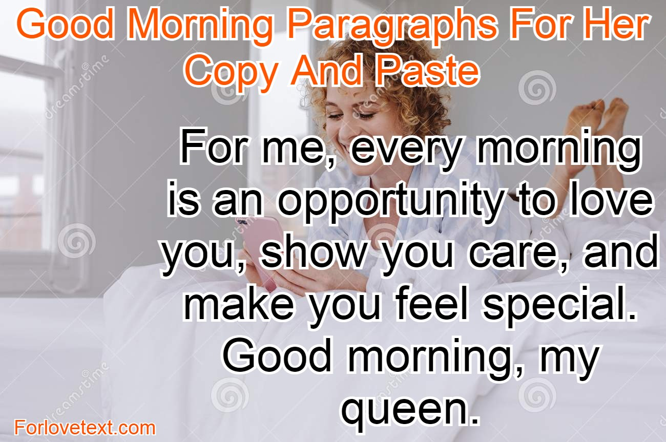 Good paragraphs sweet her morning for 100 Cute