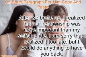 I'm Sorry Paragraph For Him