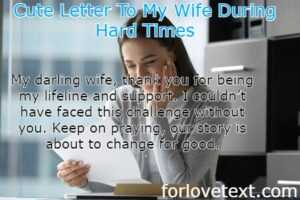 Letter To My Wife During Hard Times