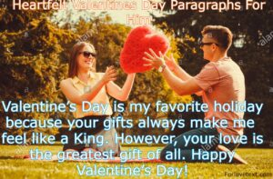 Valentines Day Paragraphs For Him
