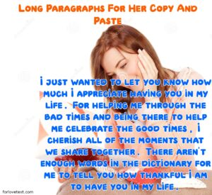 Long Paragraphs For Her